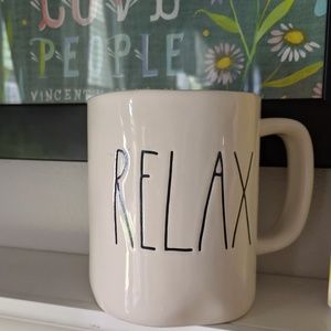 RELAX Rae Dunn Coffee Mug by Magenta